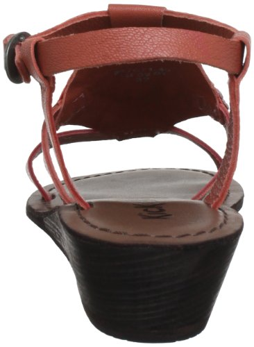 Kickers Baladin - Sandalias de cuero mujer rojo - Rot (rouge claire 43)