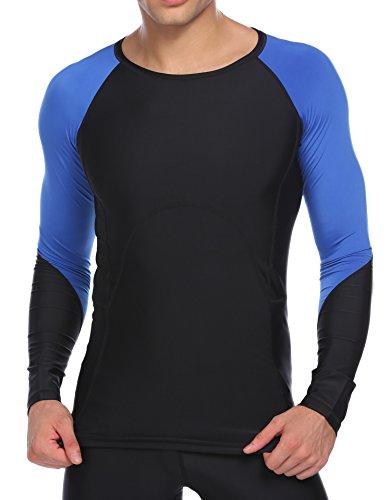 Coorun 長袖 ラウンドネック スポーツシャツ UVカット 吸汗速乾 コンプレッションウェア アンダーウェア インナー ゴルフ ランニング バイク トレーニング フィットネスなどに適応
