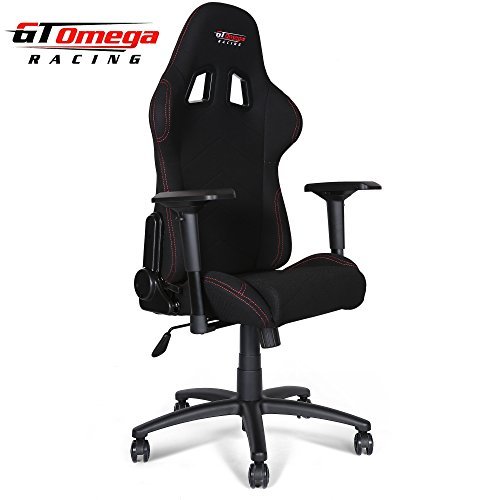 Gt Omega Pro Racing Office Chair Black Fabric Gaming
