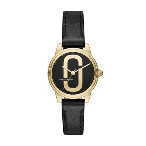 Marc Jacobs Women's 'Corie' Quartz Stainless Steel and Leather Casual Watch, Color:Black (Model: - Jacobs Watches Marc Black Women