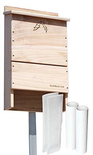 BestNest Triple-Celled Bat House and Two Bat Exclusion Tubes BAT250-EX