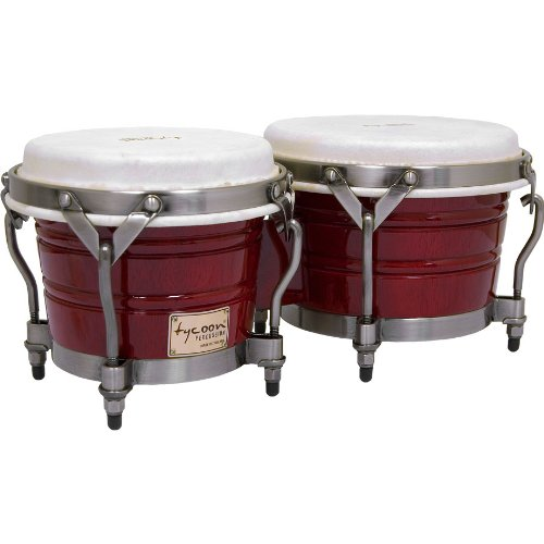 Signature Series Bongos - Tycoon Percussion 7 Inch & 8 1/2 Inch Signature Classic Series Bongos - Red Finish