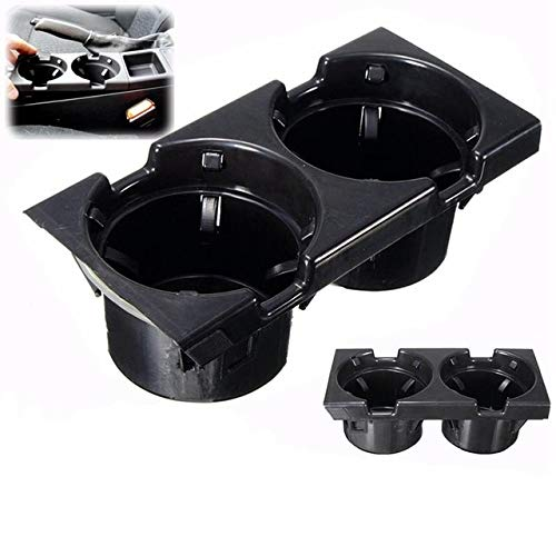 (BAGUIO STORE Black Double Hole Car Vehicle Front Center Console Storage Box Coin + Cup Holder for BMW E46 3SERIES 1999-2006 51168217957)