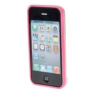 MOFY- Protecci—n de TPU cap'tulo de parachoques para el iPhone 4/4S (colores surtidos) , Rosa
