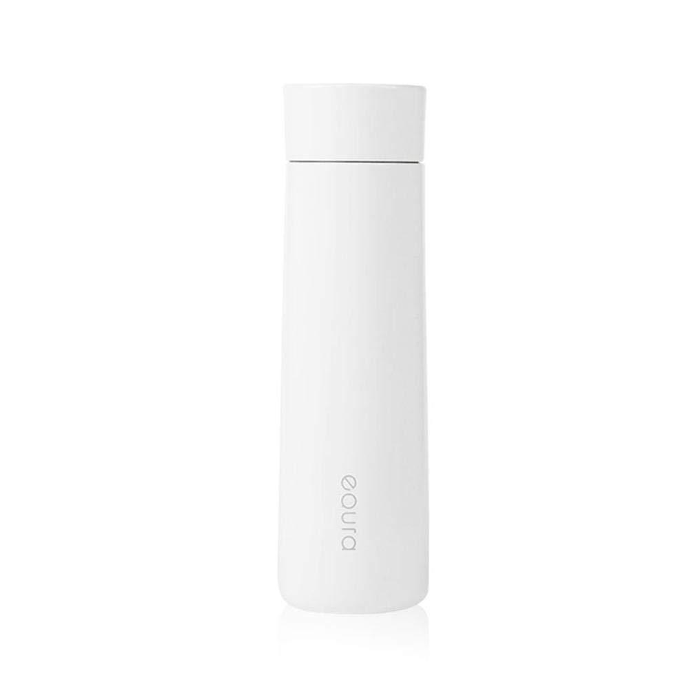 AOLVO Hot Thermos,380/ml Senza Fili Ricaricabile Smart Water Bottle Cup Vuoto Isolato Bottiglia Termica in Acciaio Inox con LCD Touch Screen Temperature Indicate Rosa Acqua Potabile promemoria