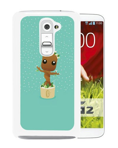 Groot Monarch Of Planet X Guardians Of Galaxy Marvel White Screen Cover Case Fit for LG G2,Hot Sale (Guardians Of The Galaxy For Sale)