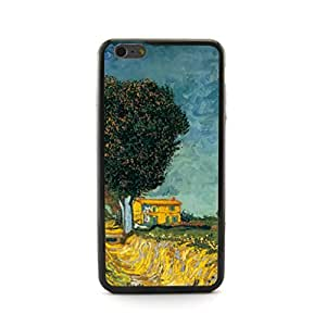 """CaseCityLiu - Landscape with Edge of a Road Vincent Willem van Gogh Oil Painting Design Plastic+TPU Case Cover for Apple iPhone 6 Plus 6th 6Generation 5.5"""""""" inch"""