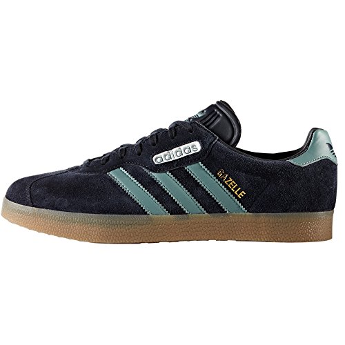 adidas Originals Gazelle Super CG3275, BY9777. Beige y Blu. Sneakers. Tenis. Trainers. Night Navy/Vapor Steel