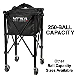 Gamma Sports EZ Travel Cart Pro 250 Ball Hopper, Black