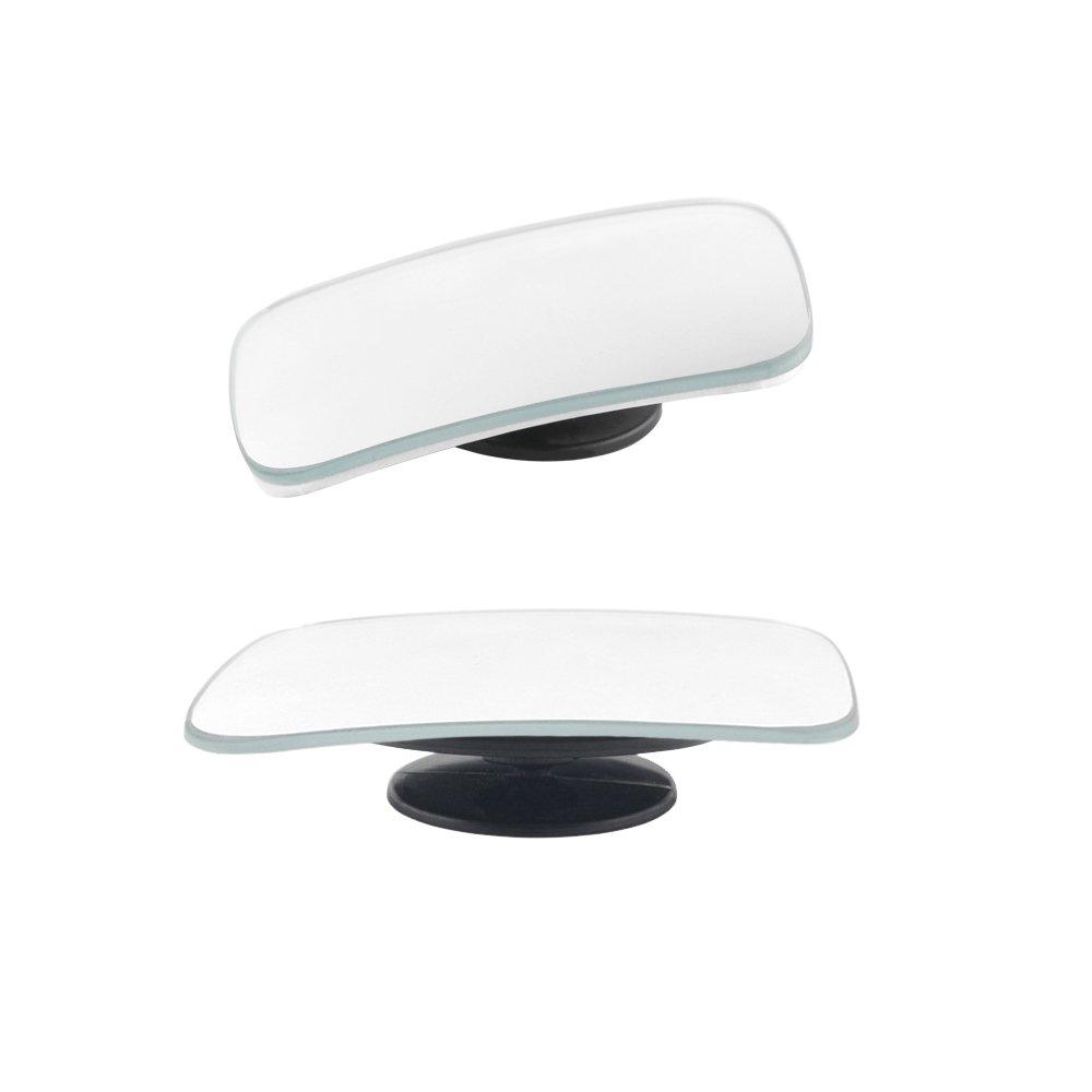 Gran Angular Espejo retrovisor Lateral para Todos los veh/ículos universales Paquete de 2 Cuadrado 360/º Espejo de Punto Ciego TiooDre Giratorio Ajustable Espejo retrovisor HD de Cristal Convexo