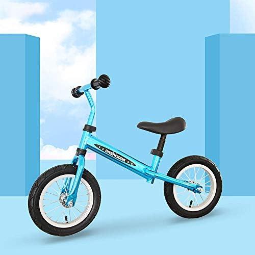 幼児のバランスバイク、純粋なアルミニウムペダルなし2ラウンドゴムインフレータブルホイール軽量でポータブル自転車12インチインフレータブルベビースライディングウォーカー