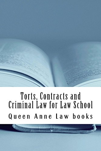 Torts, Contracts and Criminal Law for Law School Law school / Exams