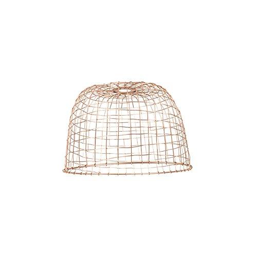 QAZQA Stahl Schirm Basket 40 kupfer, Rund konisch Schirm Pendelleuchte