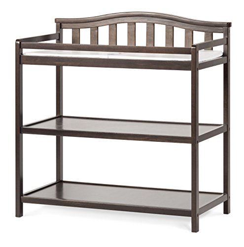 Child Craft Arched Top Changing Table with Pad, Slate - Arched Top