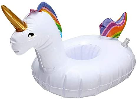 3PC Unicorn Cup Holder Inflatable Pool Float toy