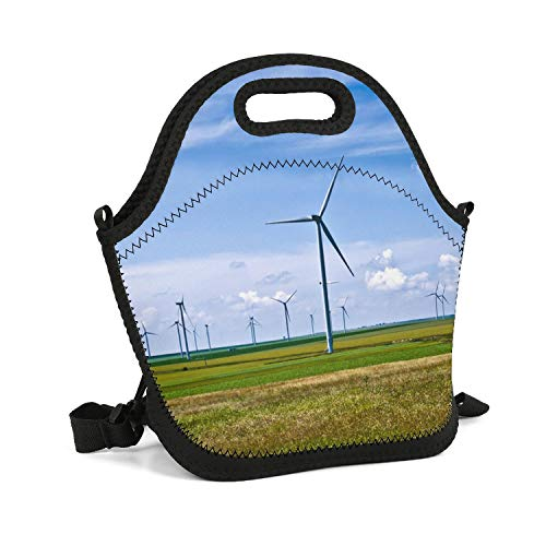 CBBYY Lunch Tote Insulated Reusable Picnic Lunch Bags Boxes Eco Power Wind Turbines Generating Electricity Lunchbox for School Work - Generating Wind Turbines