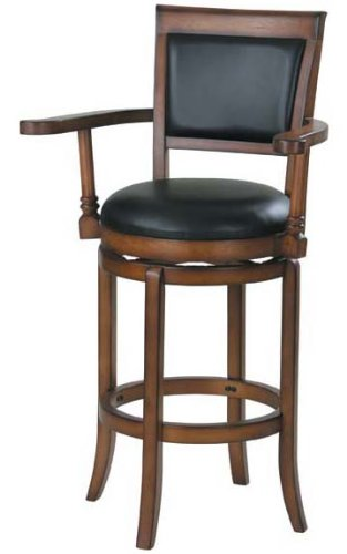 Amazon Com Acme 07031 Swivel Barstool W Armrest Kitchen Dining