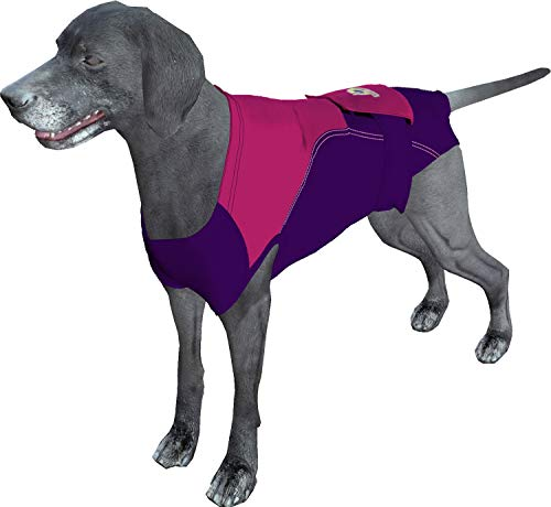 Surgi Snuggly Washable Disposable Doggie Diapers Cover - for Male and Female Dogs - Fits Puppies to Adult Dogs - A Simple Solution to an Everyday Problem (Xtra Large Long, Plum/Swirl)