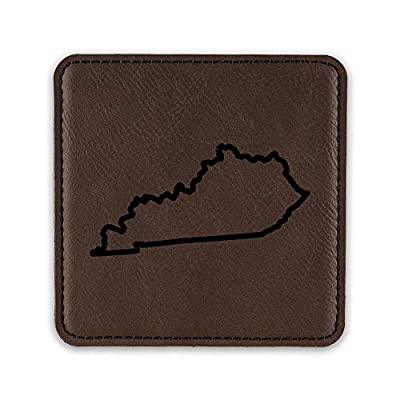Kentucky Outline Drink Coaster Leatherette Coasters KY