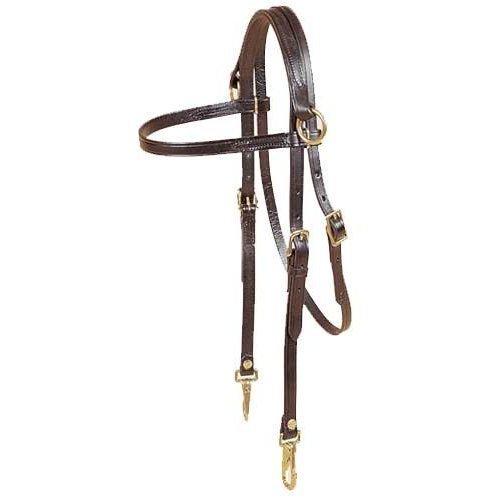 (Gifted Horse Arabian Side Check Training Headstall 489 Dark Oil)