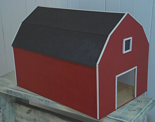 Red Toy Barn with Hay Loft, Pretend Farm, Play House Horse Barn, Tractor Barn, Little Boys Barn, Barn Door, Barn Wood
