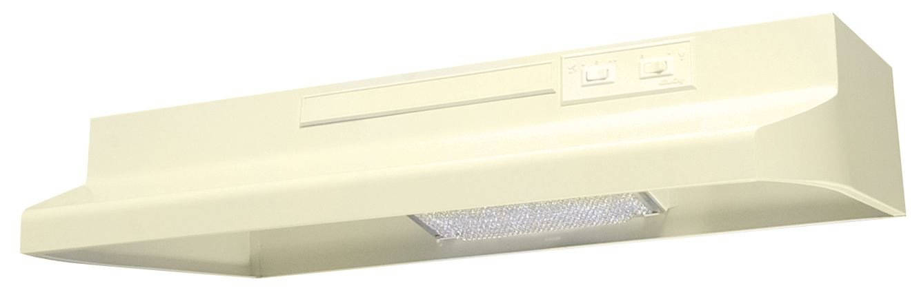 Air King AV1305 Advantage Convertible Under Cabinet Range Hood with 2-Speed Blower and 180-CFM, 7.0-Sones, 30-Inch Wide, Almond Finish