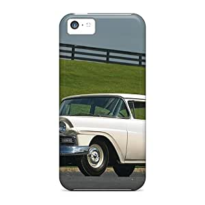 Durable Case For The Iphone 5c- Eco-friendly Retail Packaging(1957 Ford White)