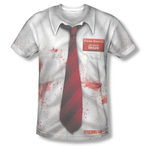 Shaun Of Dead The Costume Zombie (Shaun of the Dead - Men's T-Shirt Shaun Costume Design , Large,)