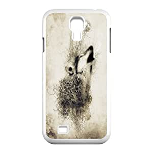 [Tony-Wilson Phone Case] For SamSung Galaxy S4 Case -IKAI0446222-Wolf,Wolves and Moon Pattern