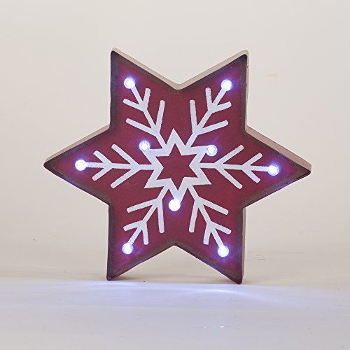 Glitzhome Lighted Snowflake Marquee Sign, Snowflake