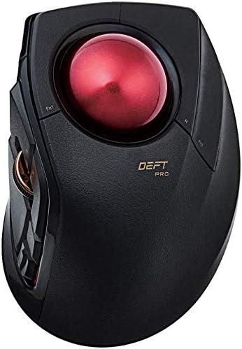 エレコム トラックボールマウス/人差指/8ボタン/有線/無線/Bluetooth/ブラック
