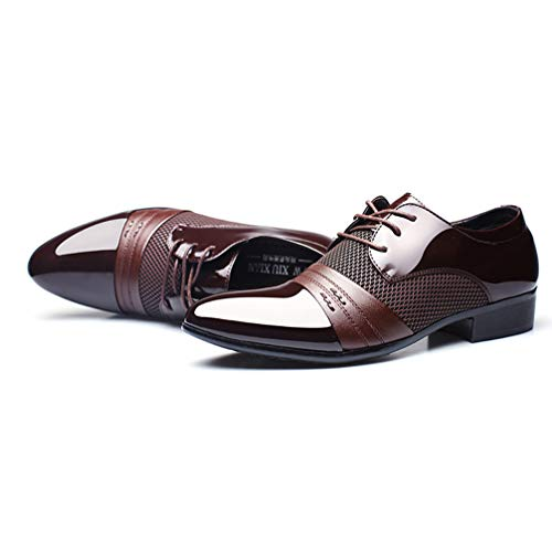 Mens Business Dress Shoes Pointed Toe Lace up Comfortable Oxford Sheos by Phil Betty (Image #2)