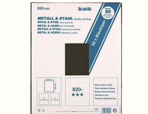 KWB 25x Schleifgewebe Metall und Stahl, 820-040