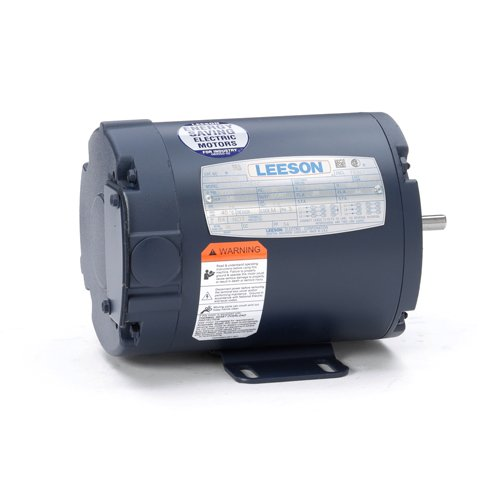 Leeson Electric 092015.00 - General Purpose Motor - 3 ph, 0.17 hp, 1800 rpm, 208-230/460 V, 42 Frame, Totally Enclosed Non Ventilated Enclosure, 60 Hz, Rigid base Mount ()