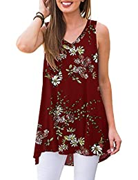 4b108cc95b4 Women's Summer Sleeveless V-Neck T-Shirt Tunic Tops Blouse Shirts