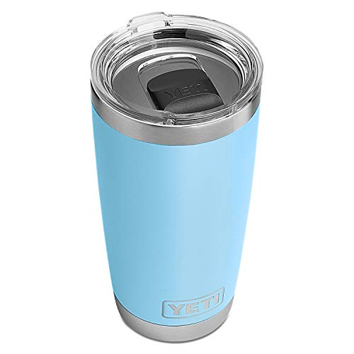 YETI Rambler 20 oz Stainless Steel Vacuum Insulated Tumbler w/MagSlider Lid, Sky Blue