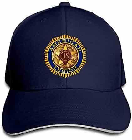 96e3ecc5b1a65f Unisex Adjustable Sandwich Hats Solid Colors Baseball Cap Snapback Hat for  American Legion Logo