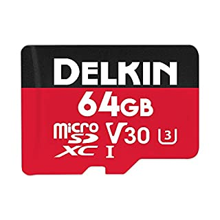 Delkin Devices 64GB Select microSDXC UHS-I (U3/V30) Memory Card (DDMSDR50064G)