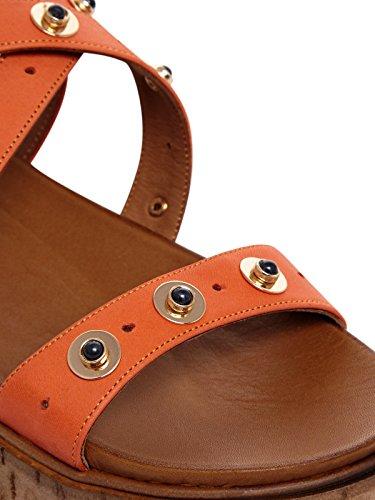 Inuovo - Sandalias de vestir de Cuero para mujer naranja