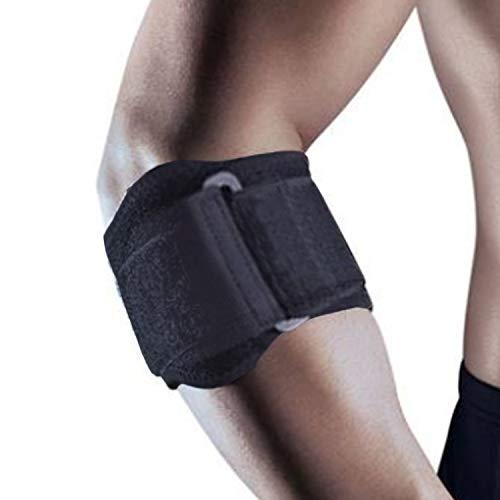 (Tennis Elbow Brace Tendonitis Treatment, Adjustable Elbow Strap Support Brace - Acupressure Elbow Brace, Provides Comfortable Compression for Elbow Pain Relief (Black, S - M))