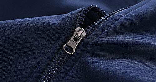 Di Uomo Da Sportivo Navy Sjzc Completo Maglione Velluto In E Cardigan blue 1TgXwxpq