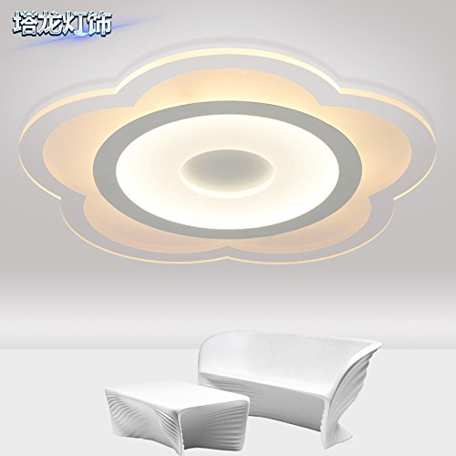 Slimline Flat Panel (The living room Flat Panel Light Slimline led ceiling light Circular acrylic torx modern bedrooms ,750mm Lamps)
