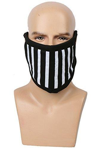 XCOSER Toby Face Mask Black & White Stripes Cotton Face Mask