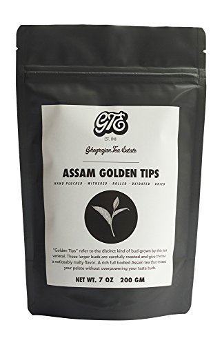 Assam Loose Leaf Black Tea with Golden Tips (100+ Cups) - Premium Second Flush Harvest - Malty, Full Bodied Breakfast Tea - Directly Shipped from our Family-Owned Estate in Assam, India - 7 oz Pouch
