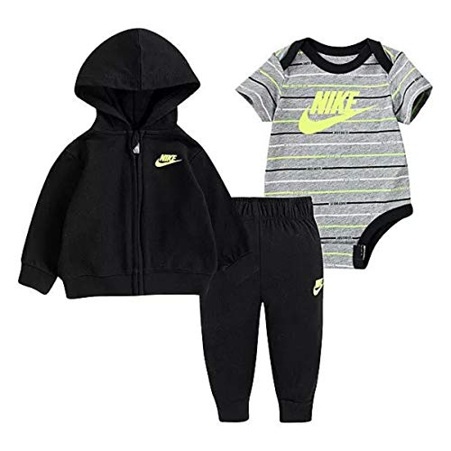 Nike Baby Boys 3-Piece Jacket Set - Black