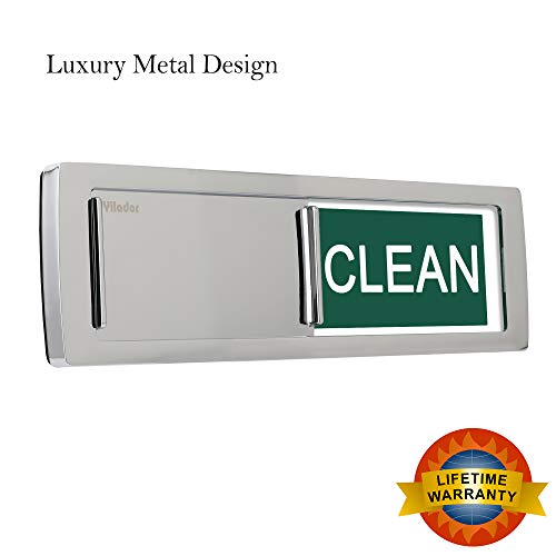 2019 Premium Metal Design Clean Dirty Dishwasher Magnet Sign, Non-Scratchking Backing / 3M Sticky Tab Adhesion, Water Resistant Endurance Indicator Reminder Tells Dishes Are Clean or Dirty - Metal