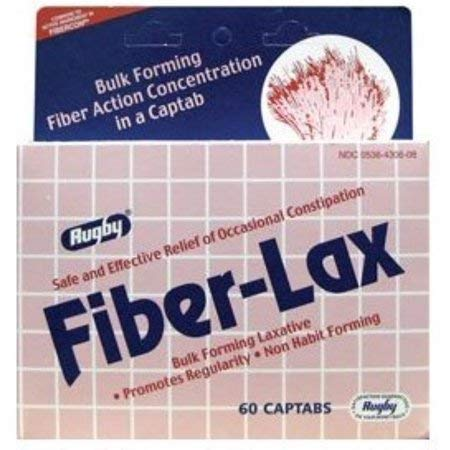 Rugby Fiber-Lax 625 mg Tablets 60 ea (Pack of 9) by Rugby