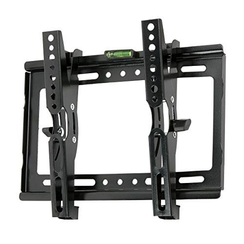 "JXMTSPW Tilt TV Wall Mount Small Monitor Bracket Most 14-42 inch Flat Curved Screen Fit 22"" 24"" 27"" 32"" 39"" 40"" Televisions 50mm Low Profile up to VESA 250x210mm 55lbs"