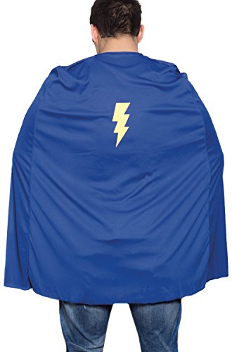 HMS Men's Superhero Wrestling Cape with Lightening Bolt Motif, Red, One Size by HMS