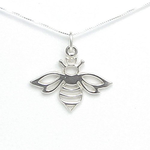 Queen Bee Necklace - Includes Story Card It's Good to be the Queen - Handcrafted in USA Sterling Silver 18